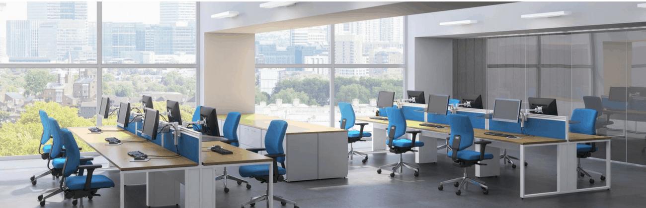 Cluster Desks Workstations Call Centre Furniture For