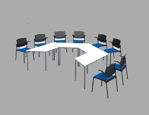 004ZIP Training room desk
