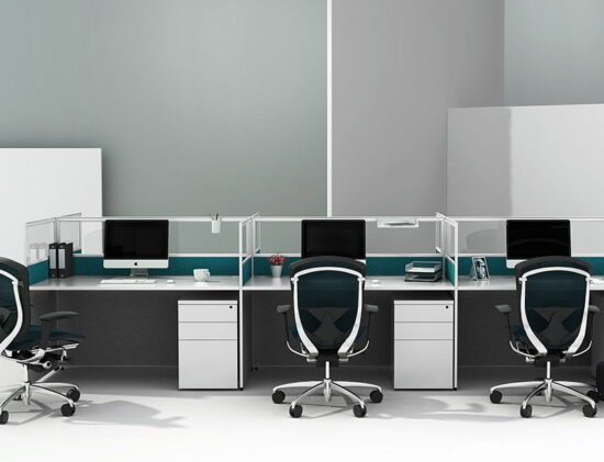 TWO-002 Full height Staff workstation