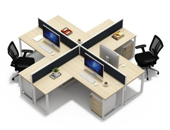 TWO-0017 Metal Computer Desk Office Partition