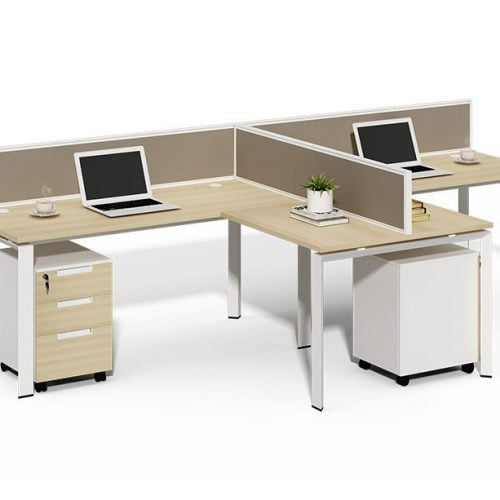 TWO-009 2 Seats Office Partition Workstation