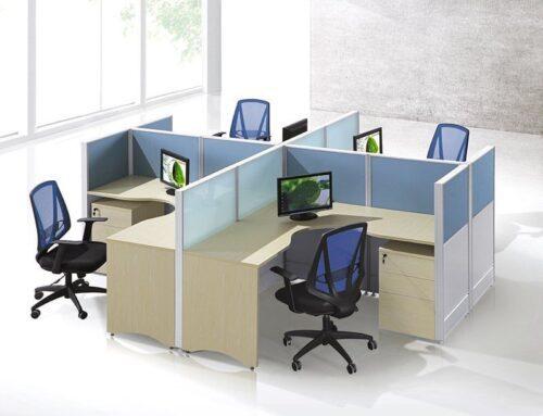 4 person L shape workstation FHW 0011