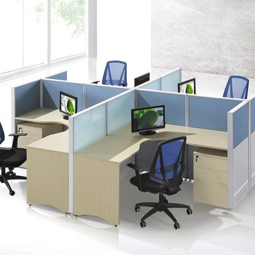 4 person L shape workstation FHW 0011