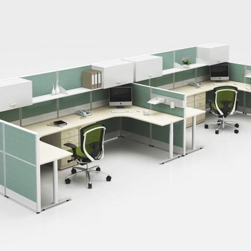 Full Height Workstation&Desk Screen Partition FHW 004