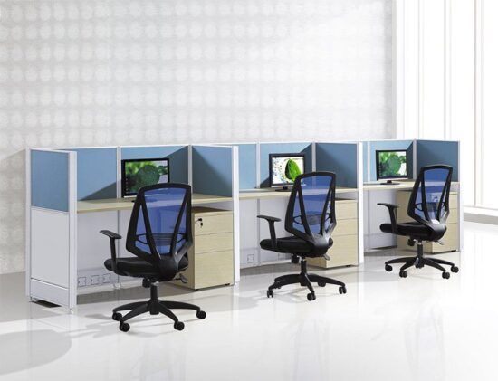 3 person linear workstation FHW 006