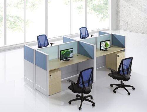 4 person linear workstation FHW 007