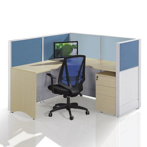 L shape workstation FHW 008