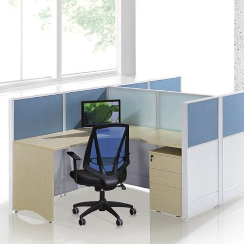 2 person L shape workstation FHW 009