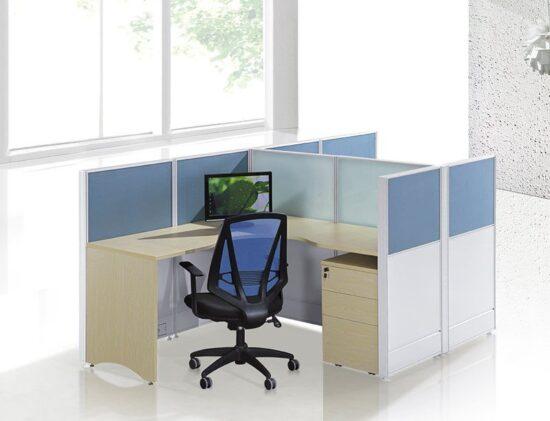 2 person L shape workstation FHW 009