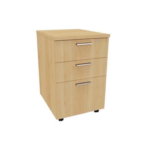 Mobile Pedestal – 2 Drawer, 1 Filer drawer 0015