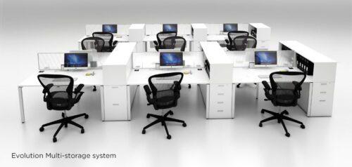 Multi-storage pedestal 2-drawer 1-filer – Evolution 0020