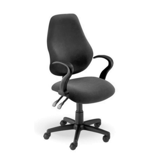 004 Luna Typist Chair- LC40 Arms