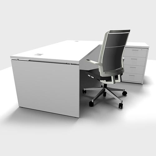 Desk Height Pedestal – 4 Drawer Mini 003