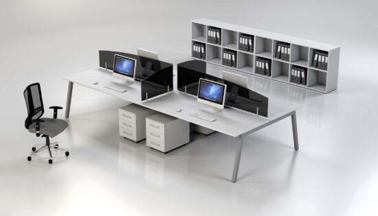 Plan b angle leg-open shelving cabinets