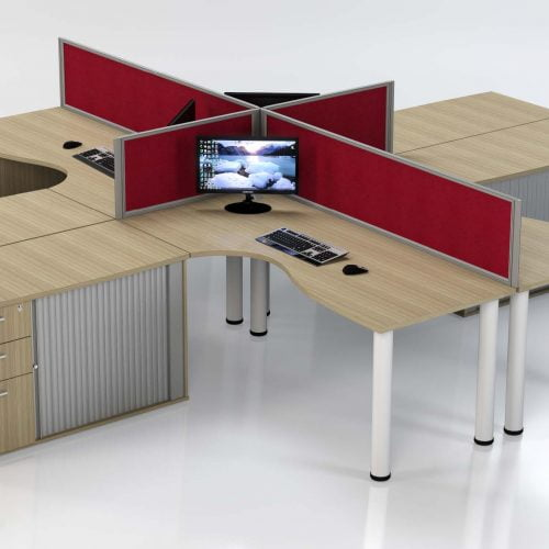 Workzone single plan cluster workstations