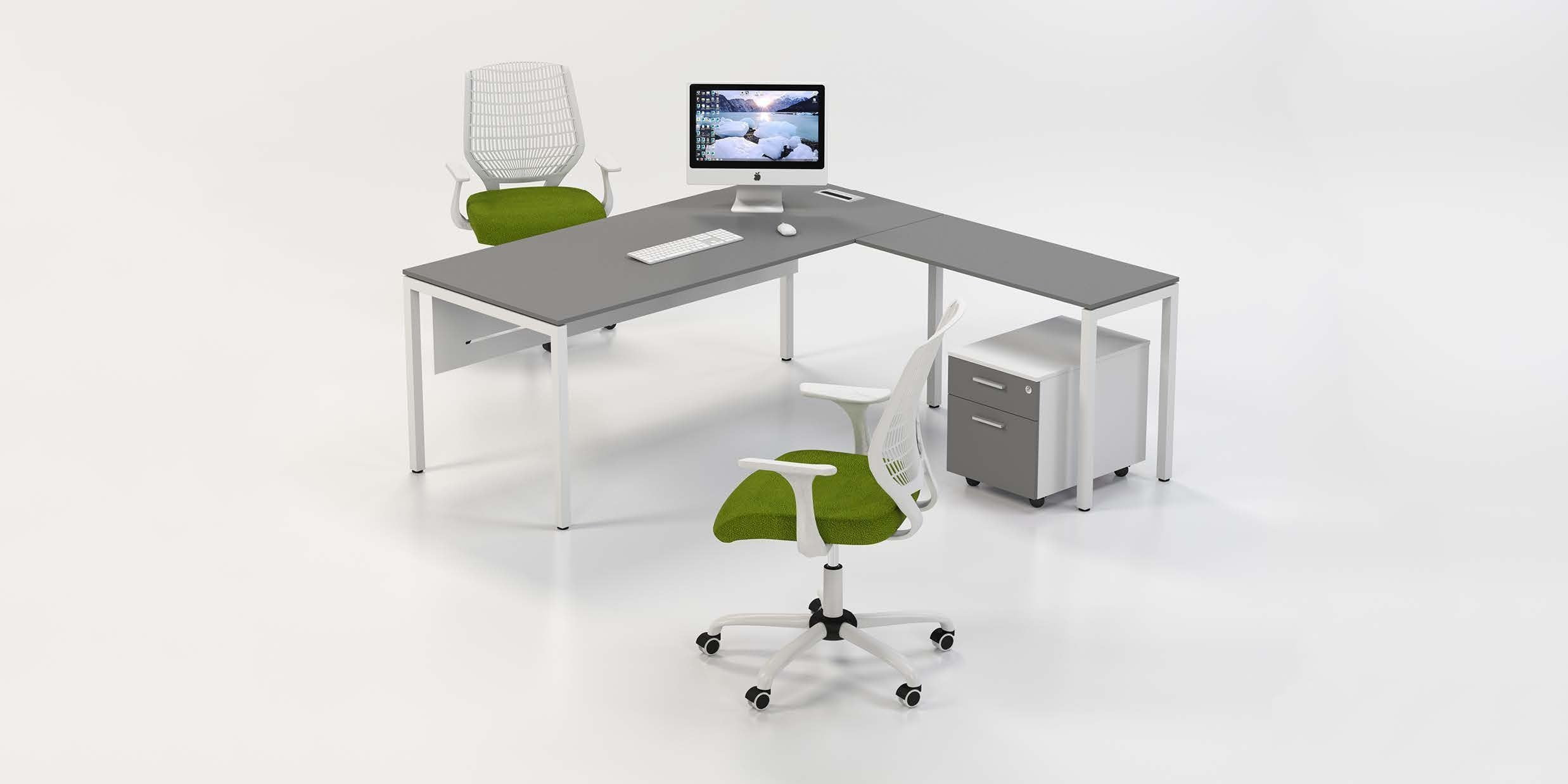 <h2>38<sup>2</sup> Benching System managerial meeting table and personal assistant</h2>
