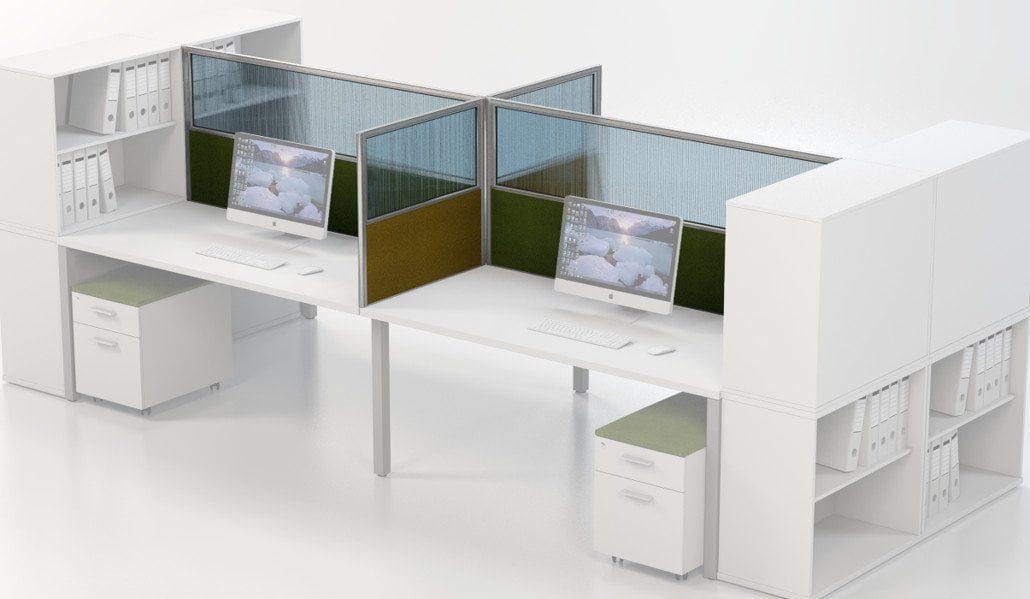 IS aluminium floor standing desk based combo