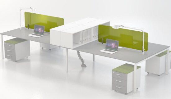 Glass desk based screens