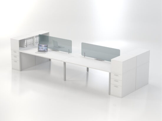 Perspex desk based screens