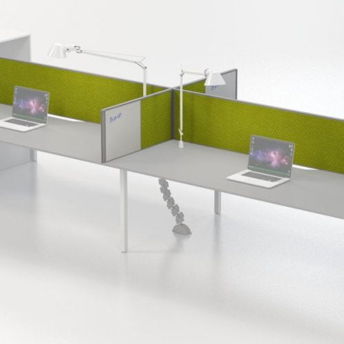 IS desk based screen with whiteboard