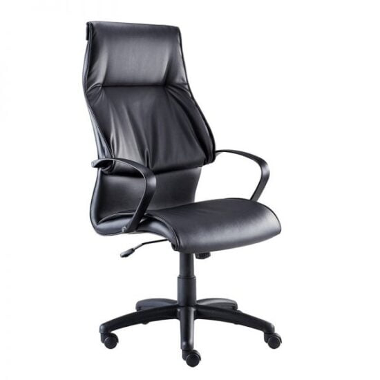 7600 High Back Chair in Black Bonded Leather